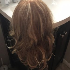 Multi tonal blondes lace capped wig